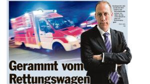 Read more about the article Artikel: Gerammt vom Rettungswagen