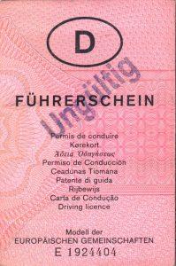Fahren ohne gültigen Führerschein