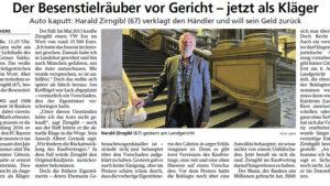 Read more about the article Münchner Merkur: Der Besenstielräuber vor Gericht – jetzt als Kläger